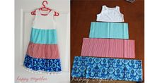 easy-sew-dress - this would be such an easy way to make little girl dresses!