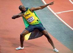 Yes!!! King of the 100 and 200 meters!! Usain Bolt!! #London #Olympics2012