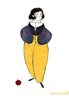 Illustration of Snow White, character design