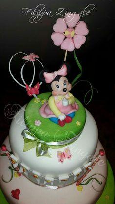#sugarcake #cakedesigne #birthdaycake #topper #babycake #babyminniecake