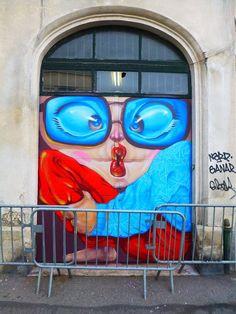 Artist Nicolas Skio S yes full art Murals Street Art, Street Art Graffiti, Urban Graffiti, Urban Street Art, Urban Art, Amazing Street Art, Amazing Art, Outdoor Art, City Art