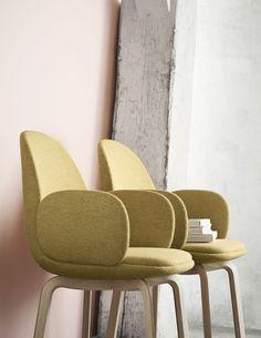 Fritz Hansen - Sammen™ dining chairs, designed by Jaime Hayon (=) Fritz Hansen, Cool Chairs, Side Chairs, Dining Chairs, Chaise Vintage, Vintage Chairs, Chair Design, Furniture Design, Nordic Furniture