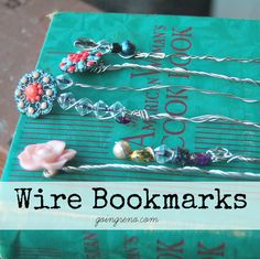 DIY Vintage Wire and Bead Bookmarks. Super easy and gorgeous!