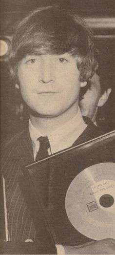 ♡♥John holds 'Twist & Shout' gold record - click on pic to see a larger pic♥♡