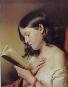 """Girl Reading"" Paintings Reproductions Eybl, Franz. Visited in Austria, liked the serenity..."