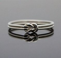 Really like this - Hug Infinity ring. Sterling Silver knot ring Nautical ring Promise ring Purity ring sailor knot via Etsy Jewelry Rings, Fine Jewelry, Gold Jewelry, Jewelry Ideas, Knot Rings, Tiffany Jewelry, Glass Jewelry, Jewlery, Gold Engagement Rings