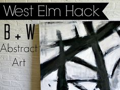 West Elm Hack | DIY Abstract Canvas Art