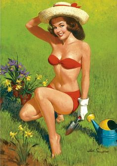 Taurus' pin-up girl knows how to work the land, and can be extremely tactile.