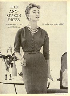 The any season dress (1954). #vintage #1950s #fashion