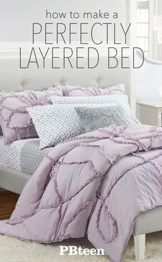 How to make the perfectly layered bed in a few easy steps!