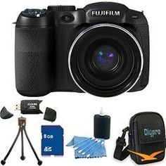 FinePix S2950 14 MP 18x Wide Angle Zoom 3.0 LCD Digital Camera, 720p HD Movie, Dual Image Stabilization, Full Manual Controls. Bundle Includes 8GB Memory Card, Card Reader, Deluxe Carrying Case, Mini Tripod, and Lens Cleaning Kit. by Fujifilm. $169.00. Product Description: The Finepix S2950 camera boasts a high resolution 14 megapixel CCD, a bright 3.0 LCD screen (460K dot resolution) plus viewfinder, and award winning Fujinon optics equipped with a 18X Optical Zoom.The Fin...