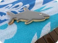 Shark Cookie close up