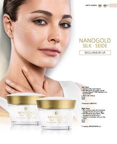"""""""NanoGold""""  Can help assist in  the prevention of light  induced, premature aging of the skin  Together with silk proteins Nanogold builds a helpful  UVA protection. UVA rays are a major contributing  factor in light induced premature aging of the skin.  Silky-luxurious texture softly pampers the skin leaving  the skin feeling beautiful Lr Beauty, Uva Rays, Feeling Beautiful, Texture, Luxury, Style, Silk, Surface Finish, Patterns"""