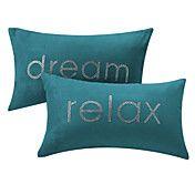 Sæt med 2 slappe af og drømme Text Polyester ... – DKK kr. 182