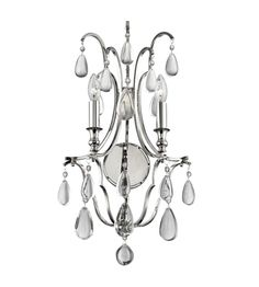 Hudson Valley 9324-Pn Crawford 6 Light Chandelier In Polished Nickel