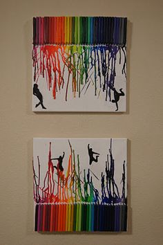 I made crayon art using silhouettes of @Jordan Gates and me!