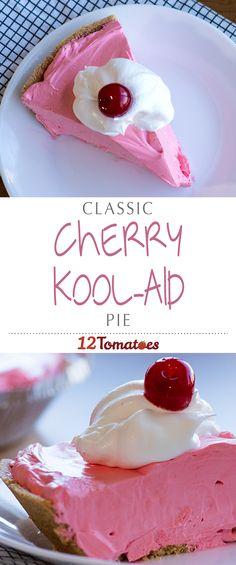 "Cherry Kool-Aid Pie | Does anything else scream ""summer!"" more than Kool-Aid?"