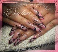 black-pink by Darhon - Nail Art Gallery nailartgallery.nailsmag.com by Nails Magazine www.nailsmag.com #nailart