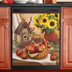Apple Pie Fall Recipe Dishwasher Magnet Harvest Country Apple Magnetic Cover