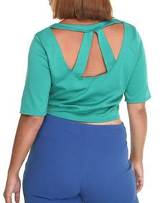 Buy The Judy Crop top w/cutout and sleeves (plus) Women's Tops from Fashion Lab. Find Fashion Lab fashions & more at DrJays.com