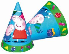 Party Time Celebrations  - Peppa Pig Party Hats, $7.95 (http://www.partytimecelebrations.com.au/peppa-pig-party-hats/)