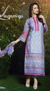 Modelled by Malaika Arora Khan, fashionable light purple pure cotton bollywood salwar kameez which is adorned with exclusive designer printed work all over and resham embroidery work on the neck line. This attire comes with matching bottom and dupatta. This Salwar Kameez can be stitched in the maximum bust size of 44 inches...
