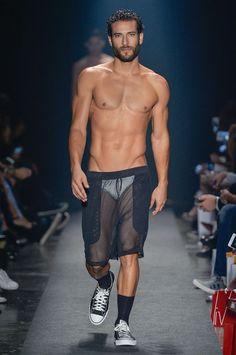 "sprinkledpeen: ""Amir Slama 2016 Collection at the Sao Paolo Fashion Week (Part 2) See Part 1 here. Models featured include Erasmo Viana, Lucas Gil, Henriquez Hansmann, Danilo Borgato, Miro Moreira, Luis Coppini, Caian Maroni, Augusto Rocha, Igor..."