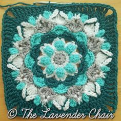 This is Square # 9 of the Mandala Blanket CAL Add to your Favorites/Queue on Ravelry Materials: Lion Brands Vanna's Choice (Worsted Weight Yarn) I Crochet Hook Yarn Needle Difficulty: Experienced Gauge: = Approx 1 inch Size: x Stitches: Free Crochet Square, Crochet Squares Afghan, Granny Square Crochet Pattern, Crochet Blocks, Afghan Crochet Patterns, Crochet Motif, Crochet Yarn, Granny Squares, Crochet Granny