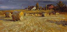"Derek's Farm by Mike Wise Oil ~ 8"" x 16"""
