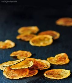 Baked Zucchini Chips - Super Healthy with only 3 Ingredients // wishfulchef.com