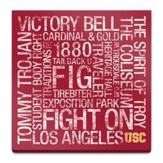 Find it at the Foundary - USC: College Colors Subway Art