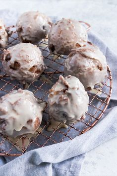 Apple fritters, a classic fried fall treat, are now allergen friendly in this dairy-free version.  Prep Time: 20 minutes   Cook Time: 30 minutes Fun Baking Recipes, Dairy Free Recipes, Apple Recipes, Sweet Recipes, Dessert Recipes, Desserts To Make, Vegan Desserts, Delicious Desserts, Yummy Food