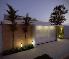 minha frente House Gate Design, Door Gate Design, Home Entrance Decor, House Entrance, Bedroom House Plans, Dream House Plans, Front Wall Design, Compound Wall Design, Modern Fence Design