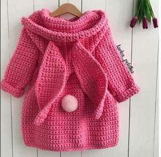 Super Ideas for baby crochet coat etsy Crochet Toddler, Baby Girl Crochet, Crochet Baby Clothes, Cute Crochet, Crochet For Kids, Crochet Bunny, Crochet Coat, Crochet Jacket, Crochet Cardigan