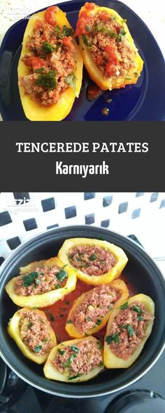 Potato in the pot, Turkish Recipes, Ethnic Recipes, Homemade Beauty Products, Salsa, Health Fitness, Mexican, Tasty, Food, Essen