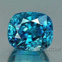 Natural Blue Zircon, American Cut Gemstones from Gemfix