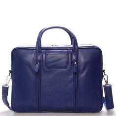 Modrá luxusní originální kožená taška přes rameno Gerard Henon. Taška je  prostorná e8ace93bf5a