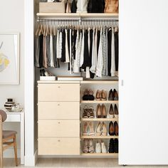 Closet Organizers 567101778077688205 - DIY Closet Systems You Can Easily Install Yourself Reach In Closet, Tiny Closet, Small Closets, Closet Space, Boys Closet, Open Closets, Dream Closets, Organized Closets, White Closet