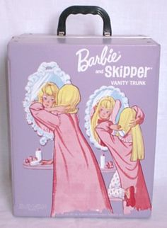I used to love my Barbie cases but they always broke.  I'd love one to carry with my makeup kit for stuff like pencils or little things for the cuteness factor, but I imagine that old vinyl is even more flimsy than it was when it was new.