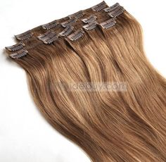 Top Quality Custom Clip in Remy Hair about 20inches For Full Head 100%Human Hair : Tidebuy.com