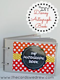 DIY Disney Autograph Book from The Cards We Drew with free print from DimplePrints