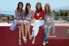 News Photo : TAORMINA, ITALY - JUNE 27: Tania Bambaci, Carol Alt, Kelly LeBrock and Tiziana Rocca poses at the photocall of Day 5 during the 58th Taormina Film Fest on June 27, 2012 in Taormina, Italy.