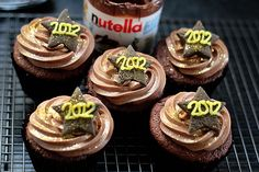 Happy New Year ~ Nutella cupcakes ~ so appropriate for Pinterest!