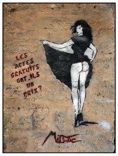Miss-Tic - street art Street Wall Art, Urban Street Art, Street Art Graffiti, Land Art, Creation Art, Graffiti Painting, Illustrations, Mural Art, Chalk Art