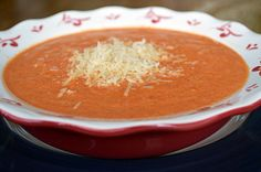 Roasted Red Pepper and Tomato Soup - Tomatoes, onions, garlic, red sweet peppers, and a few spicy jalapenos drizzled with oil, roasted and caramelized to perfection. This all adds up to a delicious garden fresh flavor that is difficult to surpass.