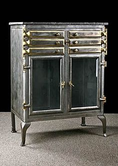19th Century Dental Cabinet Antique Buffet,