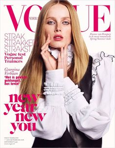 Rianne van Rompaey for Vogue Netherlands January / February 2016 cover - Louis Vuitton Spring 2016