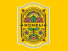 Ideas For Food Truck Illustration Design Badges, India Logo, Mumbai, Indian Illustration, Design Art, Graphic Design, Food Design, Truck Art, Art Deco