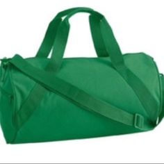 Green Gym Workout School Fitness Duffle Book Bag NEW medium size bag great for use as workout, fitness, gym, work or school bag. Had a single zippered main compartment. Outside zippered pocket. Diagonal durable webbing handle. Detachable/adjustable sturdy shoulder strap. If you are interested in purchasing one or all of the Turbo Fire DVDs please comment and lmk. This post is for one duffle bag NOT other items in picture. Bags Backpacks