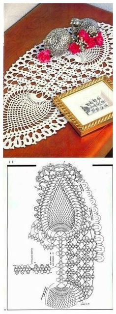 "Yellow crochet doily, oval doily, oval lace doily, oval lace topper, green tablecloth, centerpiece, runner, 22""x 12"""